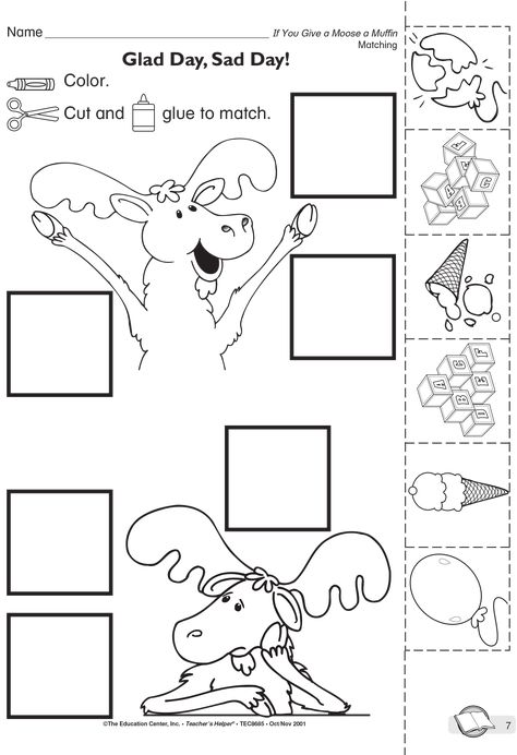 If You Give A Moose A Muffin Coloring Page Preschool Writing