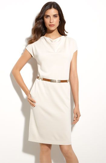 Timeless Day Dress. Can be dressed up with different belt, heels and fur coat. Or stay business appropriate. Or dress down with espadrilles or flip flops, hobo bag and sun hat.