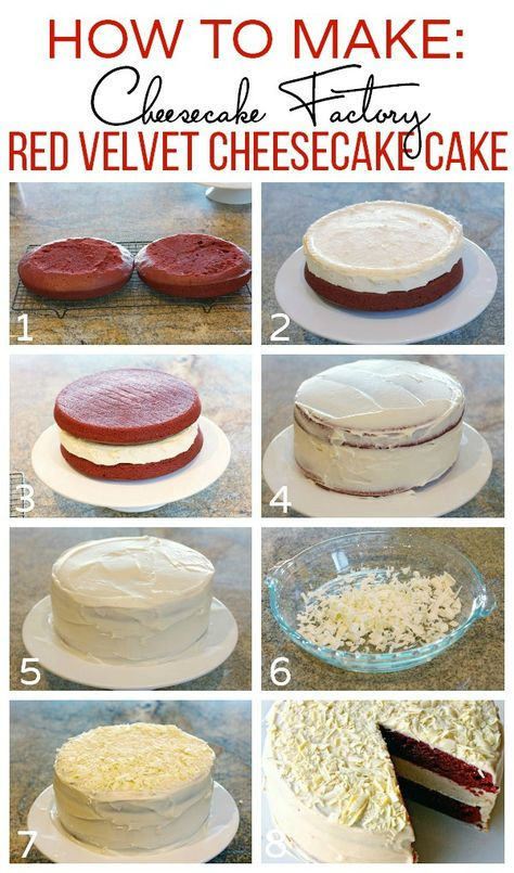 Come see how to make this Cheesecake Factory Red Velvet Cheesecake Cake \ www.foodfolksandfun.net | Copycat recipe