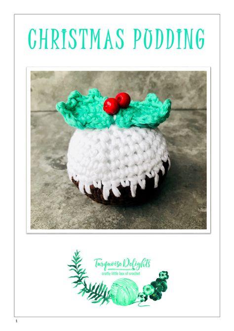 Crochet Christmas Pudding Pdf Pattern Christmas Pudding Crochet