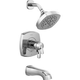 Delta Stryke Chrome 2 Handle Bathtub And Shower Faucet T17t476 In