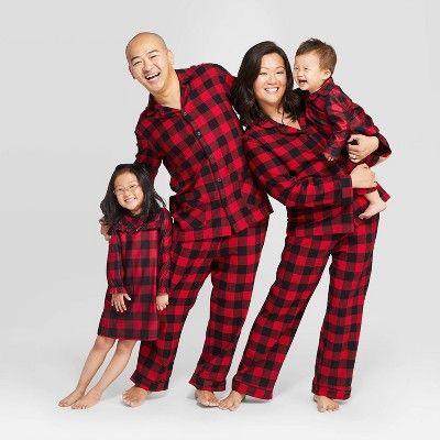 Women S Plaid Plus Size Holiday Buffalo Check Flannel Pajama Set Wondershop Red 1x Women S Size 1xl Flannel Pajamas Christmas Pajamas Pajama Set