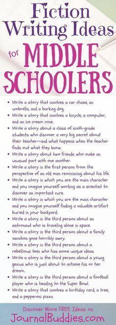 writing ideas for middle school