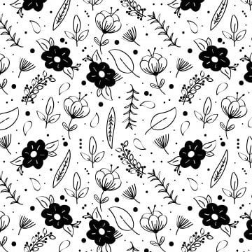 Black And White Floral Pattern Pattern Clipart Black And White Floral Png And Vector With Transparent Background For Free Download In 2021 Floral Pattern Vector Background Patterns Outline Drawings