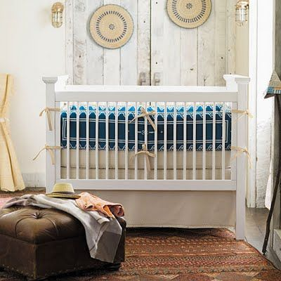 a sort of rustic and eclectic nursery