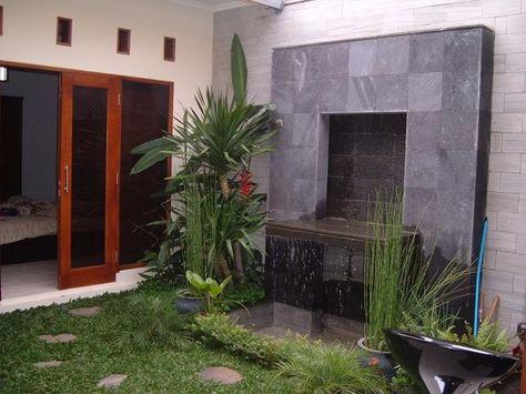 air terjun minimalis di dinding rumah   gambar rumah