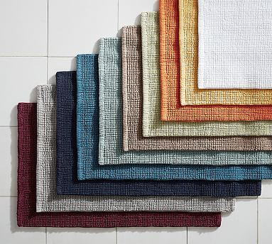 Step Out Of The Bath To The Incredible Softness Of Our Textured Organic Bath  Rug. Thick Oversized Loops Create A Reversible Design That Lets You Extend  The ...