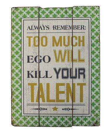Take a look at this 'Talent' Wall Plaque by The Import Collection on #zulily today!
