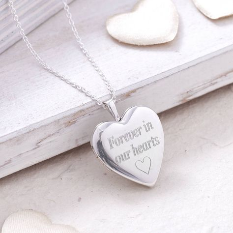 Personalised Sterling Silver Cremation Memorial Locket