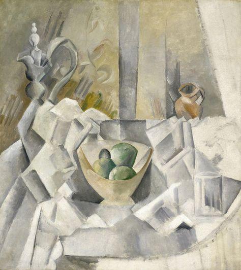 Carafe, Jug and Fruit Bowl (Carafon, pot et compotier), 1909