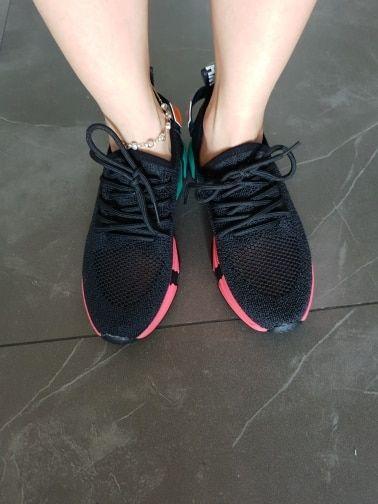 50bebd1ea1 Dumoo Girl Women Sneakers Shoes White/Black Breathable Spring Summer ...