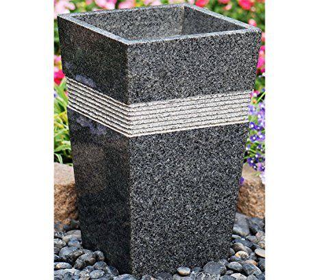 Dehner Pflanztopf Susi Ca 49 X 30 X 30 Cm Granit Schwarz Grau