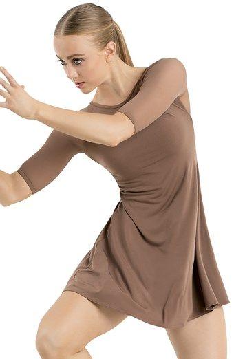 Short Sleeve Tunic Shift Dress Balera Lyrical Dresses Short Sleeve Tunic Contemporary Costumes