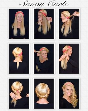 Savvy Curls Single Wrap Tutorial Apply Mousse To Clean Dry Hair And Wrap According To Instructions For Conv Soft Curls Short Hair Glam Hair Hair Care Advice