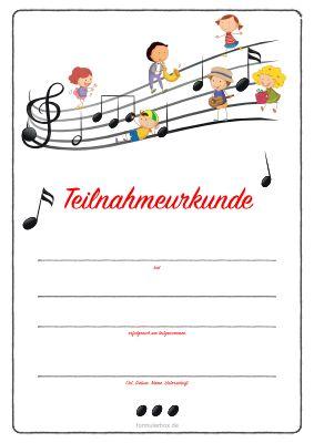 Teilnahme Kinderurkunde Kinder Mit Noten Urkunde Musikspiele Fur Kinder Kinder Musik