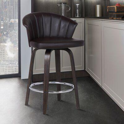 Ebern Designs Vandt Bar Counter Stool Seat Height Counter Stool