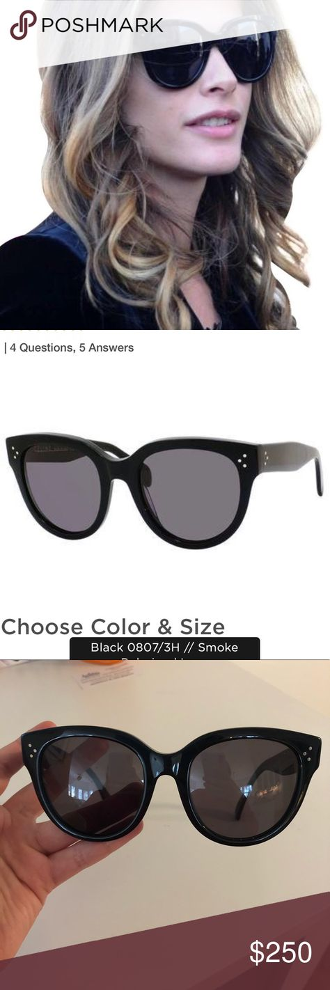 c55c2b395f7 Céline Women s Black Polarized Sunglasses A blogger favorite! These cat  eye