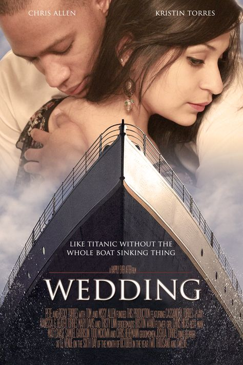 The Movie Poster my friends husband made for their Movie Themed Wedding. =) @Kristin Torres
