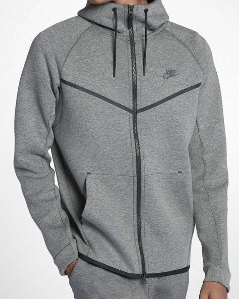 859cfbbc62106 Nike Tech Fleece Windrunner Hoodie Jacket Mens XL Heather Grey Carbon Black   Nike  Hoodie