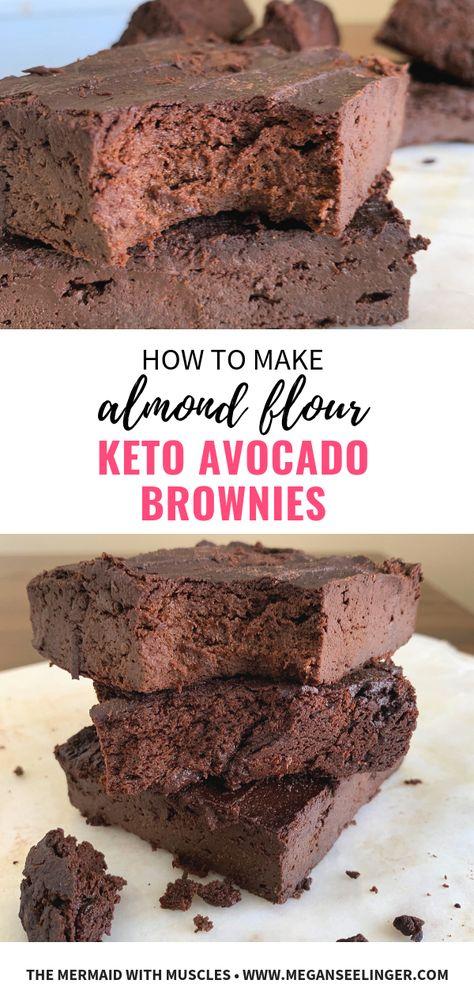 Easy Fudgy Keto Avocado Brownies- Flourless and Sugar-Free | Recipe |  Avocado brownies, Almond flour brownies, Keto chocolate recipe