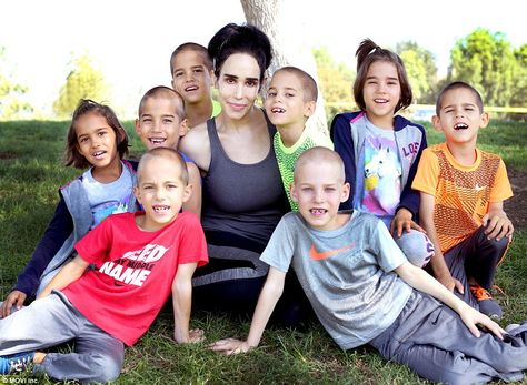 The OctoMom with her Octuplets - in grade. She has proved the media tabloids all wrong, all 14 of her kids are doing great. After giving birth to the world's first surviving Octuplets, she was skewered in the press.