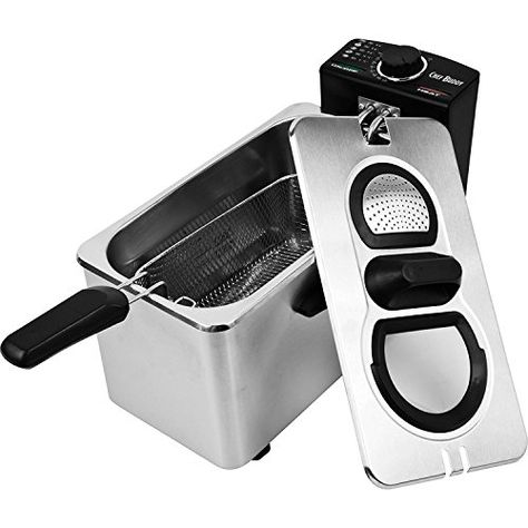 Chef Buddy Stainless Steel Electric Deep Fryer, 3 1/2 Liter 2 Pack | Kitchen  | Pinterest | Electric Deep Fryer, Deep Fryer And Heating Element