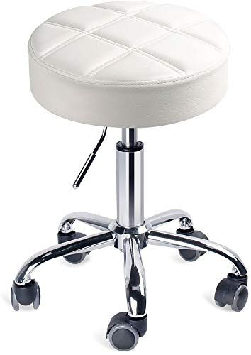 New Leopard Round Rolling Stools Adjustable Work Medical Stool