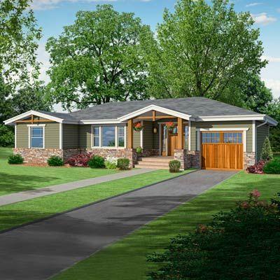 photoshop redo craftsman makeover for a no frills ranch ranch house exteriorsexterior - Craftsman Ranch Home Exterior