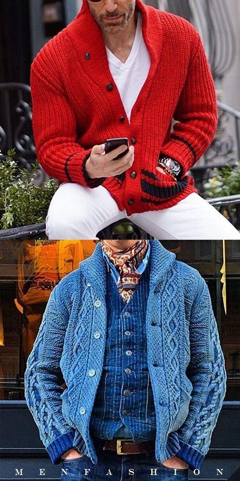Homme Premium Mélange Laine Bouton Cardigan Tricot Hiver Top S-XXL