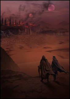 Mark Molnar - An interior illustration for the special edition of Dune by Frank Herbert, 2017