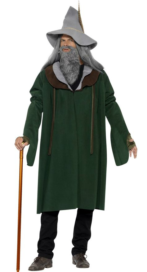 #White #Wizard Magician Wig Lord Of The Rings Long Beard Merlin Grey Wizard Wig