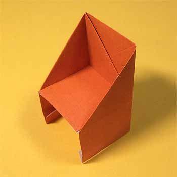 折り紙で椅子 いす の折り方 簡単な家の家具の作り方 セツの折り紙処 2020 家 編み 図
