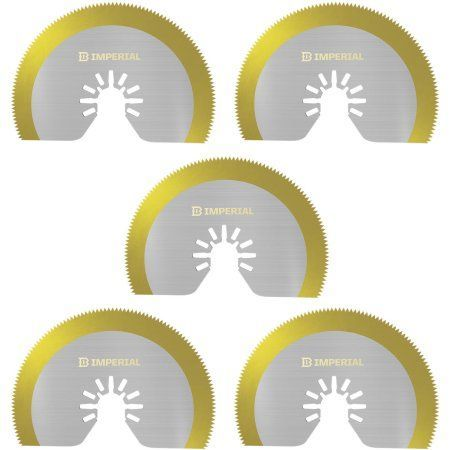 Imperial Blades IBOAT410-5 3-1/8 inch ONE FIT HSS Saw Blade TIN Storm Blade, 10-Count, Multicolor