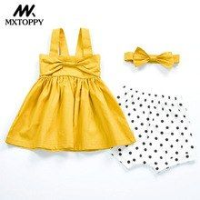 ff47811a Hot Summer Baby Girls Dress 2017 New Solid Yellow Baby Girls Clothes  Sleeveless A-line