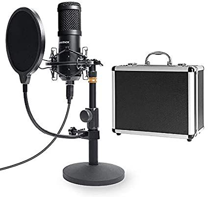 Usb Streaming Podcast Pc Microphone With Aluminum Storage Case Sudotack Professional 192khz 24bit Studio Cardioid Condenser M Microphone Microphones Sound Card