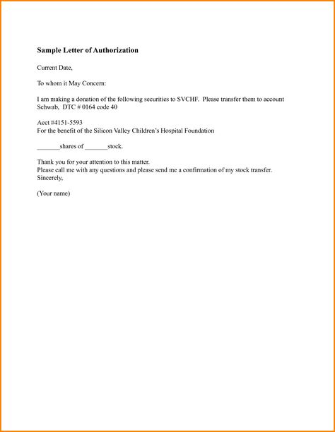 sample work authorization letter examples format consent parental - letter of authorization