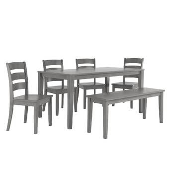 Bailee 6 Piece Solid Wood Dining Set Reviews Joss Main Dining Furniture Sets Solid Wood Dining Set Dining Room Sets