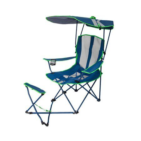 Kelsyus Original Canopy Chair With Ottoman Blue Green Camping