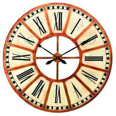 Details About Antique Style Cream Gold Wall Clock 45 In Train Station Round Oversize In 2020 Gold Wall Clock Clock Wall Clock