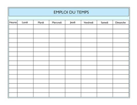 Emploi Du Temps Ecole A Imprimer Completer Pour Les Cours Emploi Du Temps Emploi Du Temps Scolaire Gestion Du Temps Imprimable