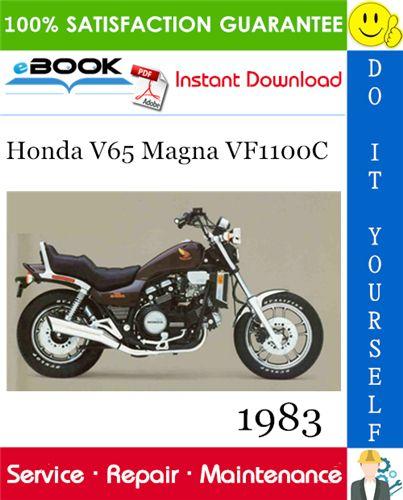 1983 Honda V65 Magna Vf1100c Motorcycle Service Repair Manual Pdf Download Repair Manuals Repair Honda