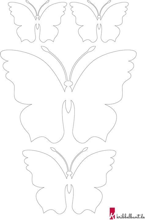 Schmetterling Zu Drucken Papierschmetterlingsformen