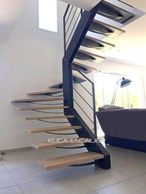 Escalier Design Metal Bois Escalier Metallique Interieur Type