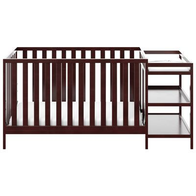 Storkcraft Pacific 4 In 1 Convertible Crib With Changing Table Espresso Crib With Changing Table Convertible Crib Storkcraft