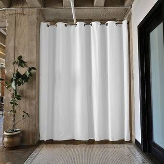 Premium Heavyweight Tension Rod 1 Panel Room Divider With Images