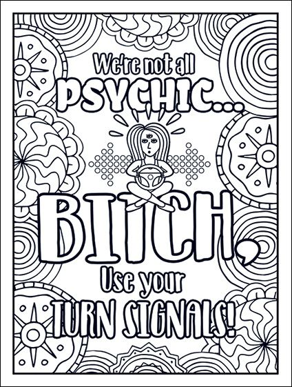 Pin On Free Printable Swear Word Adult Coloring Pages