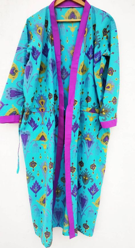 950acb671d Block print Robes Cotton Kimono Robe Kimono Robes Dressing Gown Women s  Cotton Robe Bridesmaid robe best
