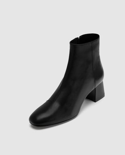 latest selection of 2019 price reduced variousstyles Image 4 of LEATHER HIGH HEEL ANKLE BOOTS from Zara | Shoes ...