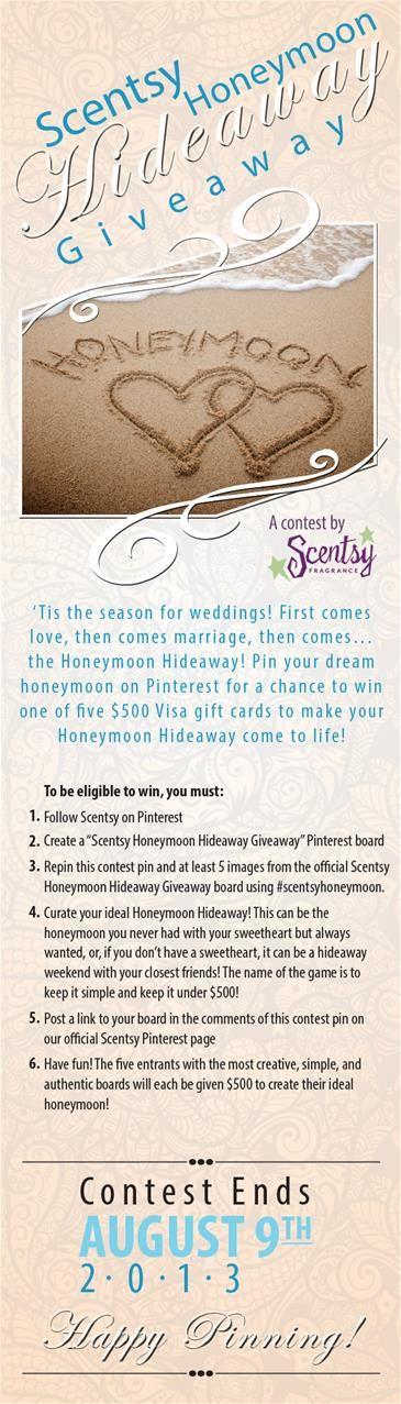 Scentsy Honeymoon Hideaway Giveaway Contest