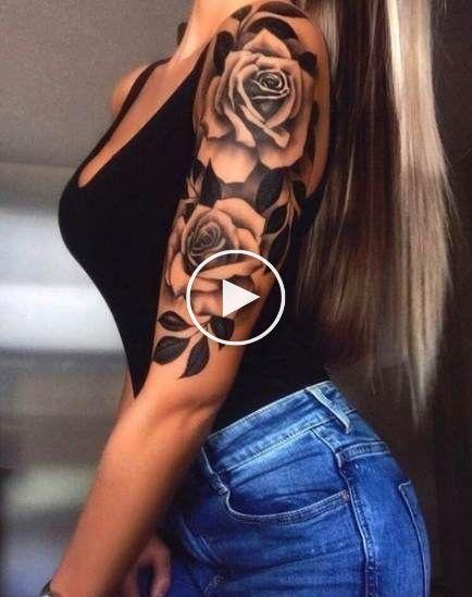 Tattoo Rose Upper Arm 49 New Ideas Rose Tattoo Sleeve Shoulder Tattoos For Women Rose Tattoos For Women
